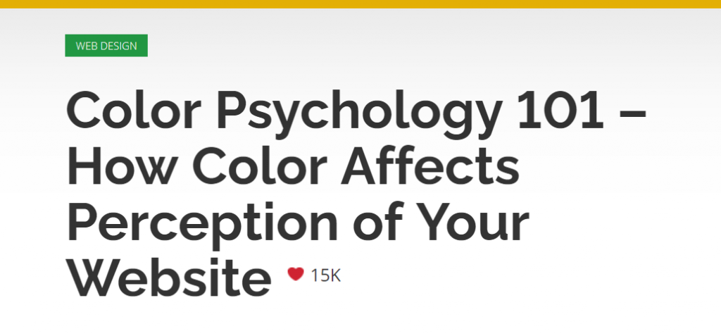 Color psychology to make user-friendly website