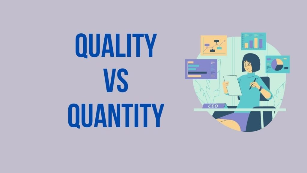 quality vs quantity of the blog post - what should be considered