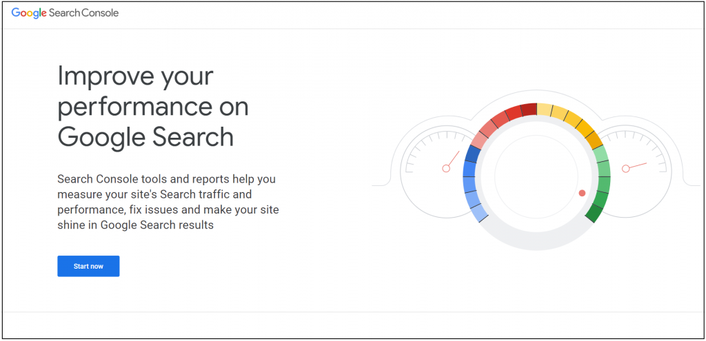 Google search console - Start now