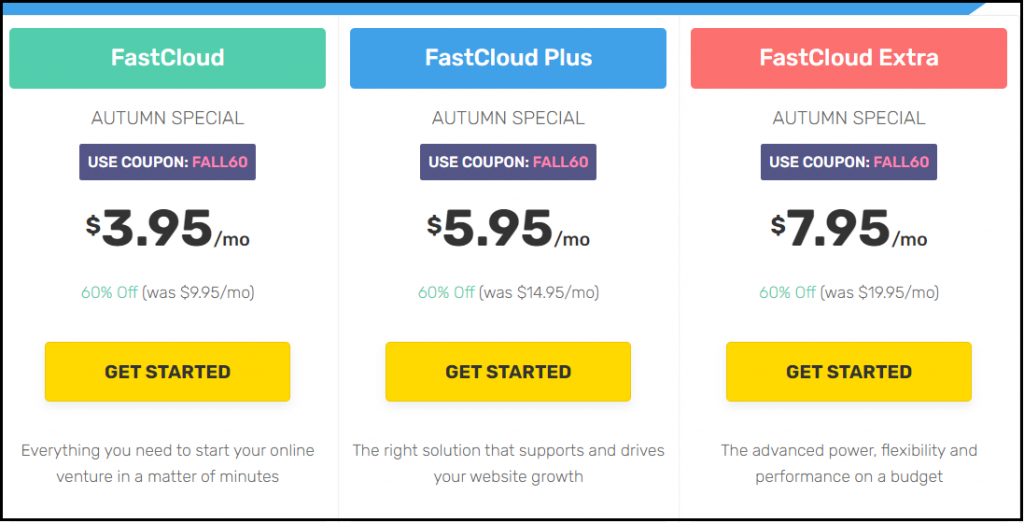 FastComet discounts, Plans and Coupons