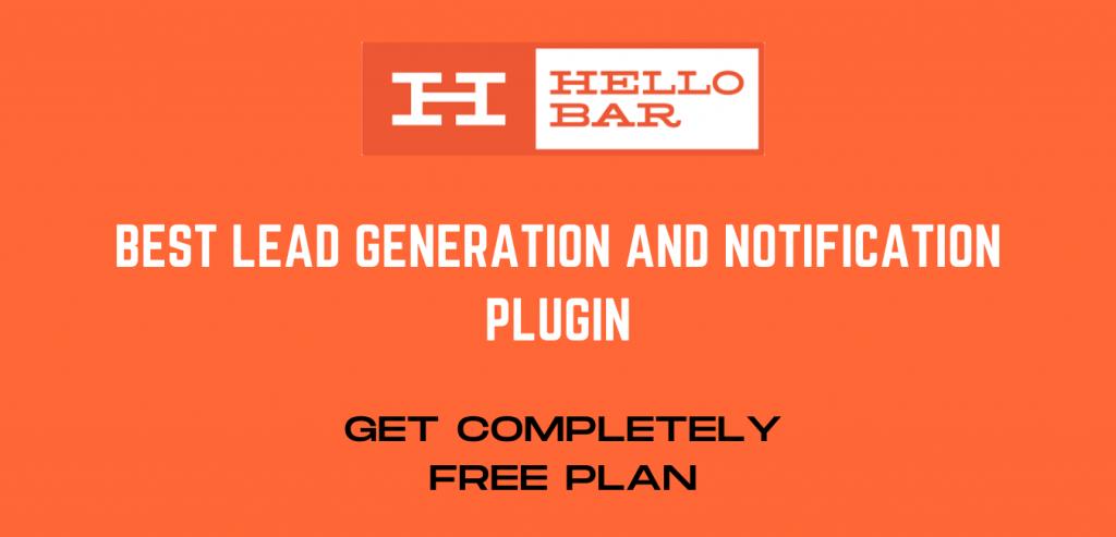 Hello Bar - Notofication and Lead generation wordpress Plugin