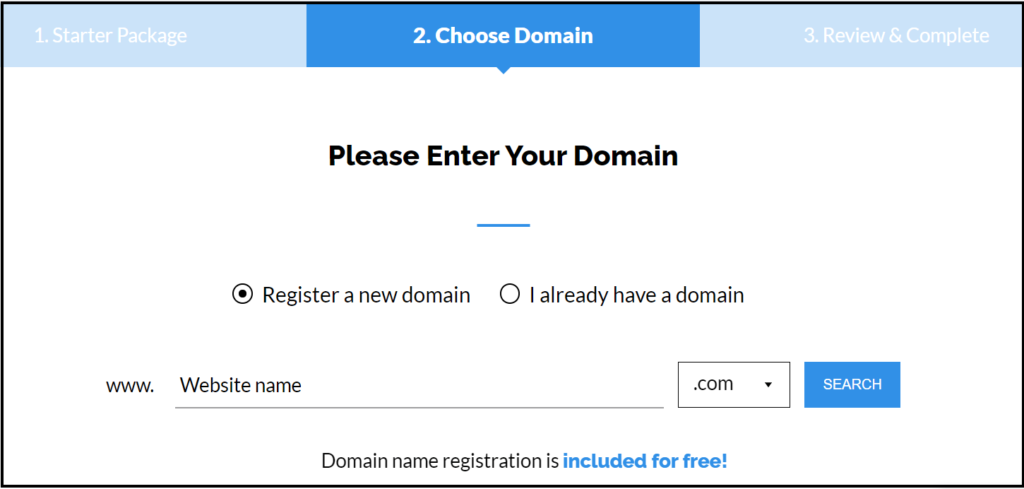 Get free domain from TMD hosting
