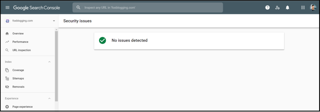 Security issues on Google search console