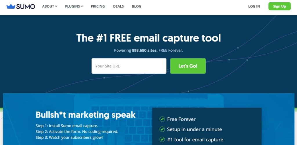 Sumo - free Popup plugin for WordPress