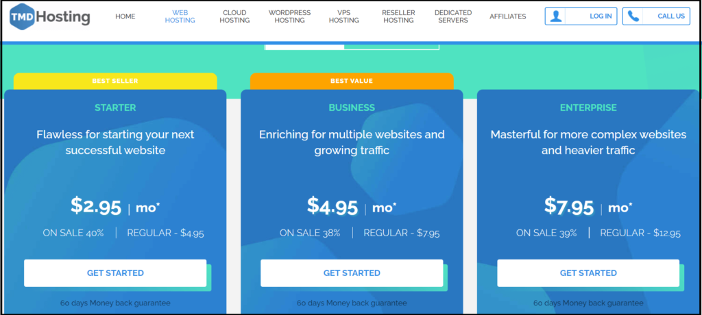 TMD hosting plans and Pricing
