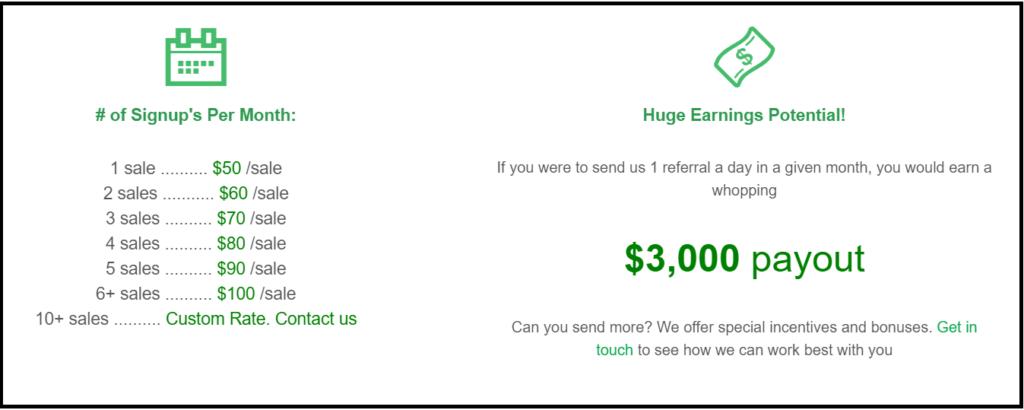 GreenGeeks web hosting custom commission payouts