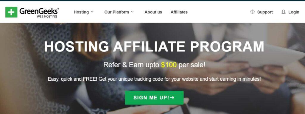 GreenGeeks Hosting affiliate program