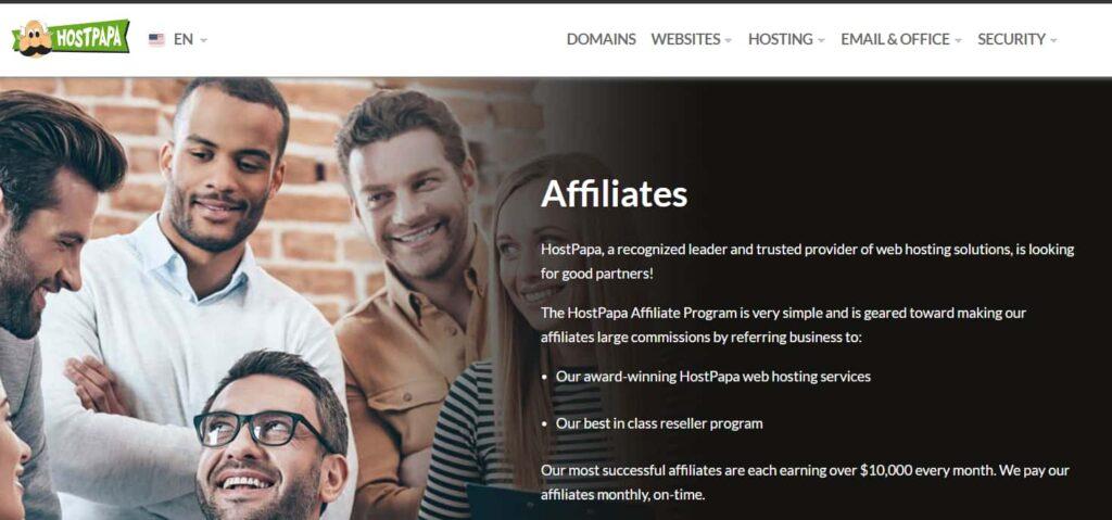 Hostpapa - web Hosting affiliate program