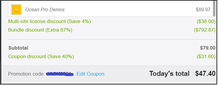 OceanWP theme discounts