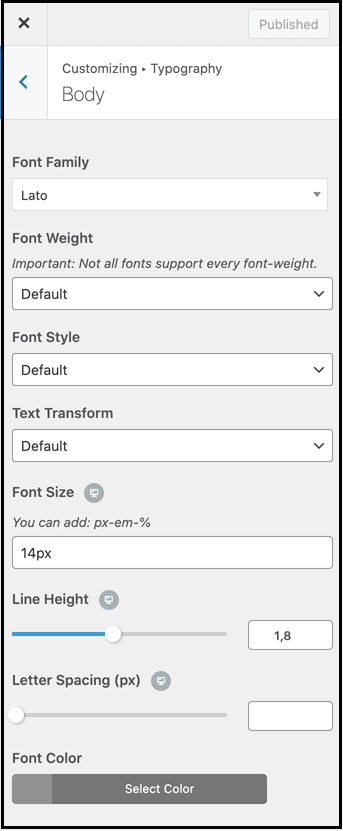 Content setting to design blog pages