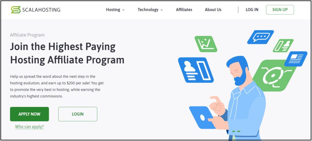 Join Scala hosting affiliate program