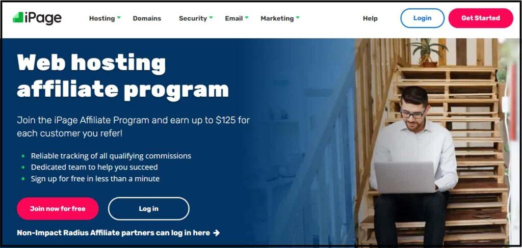 iPage hosting affiliate program Join